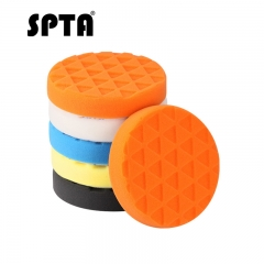 SPTA 5 inch (125mm ) Yellow/Red/Blue/Black/White Compound Buffing Pads Polishing Pads For Car Polisher --Select Color